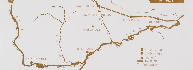 Fiks birobidzhan A Map of Birobidzhan (from series Pleshka-Birobidzhan), 2016 by Yevgeniy Fiks