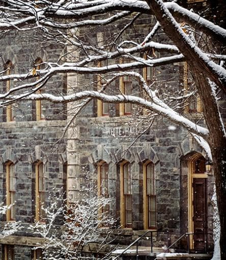 White Hall in winter