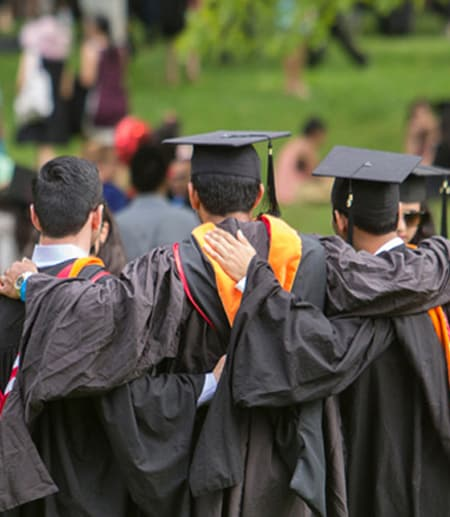 Students celebrating at Cornell Commencement