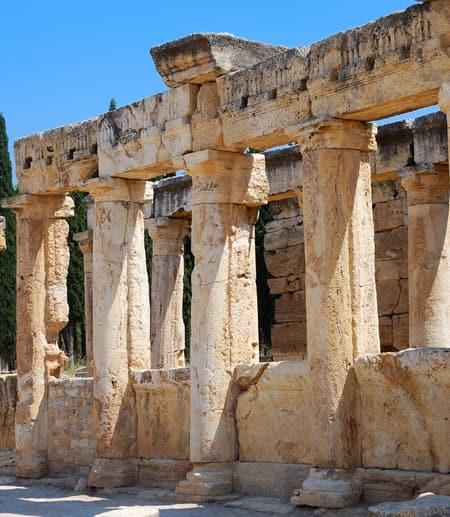 Old columns in Jerusalem