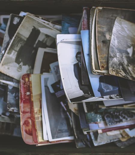 old photos stored in a box