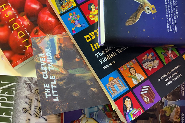Collection of contemporary Yiddish books